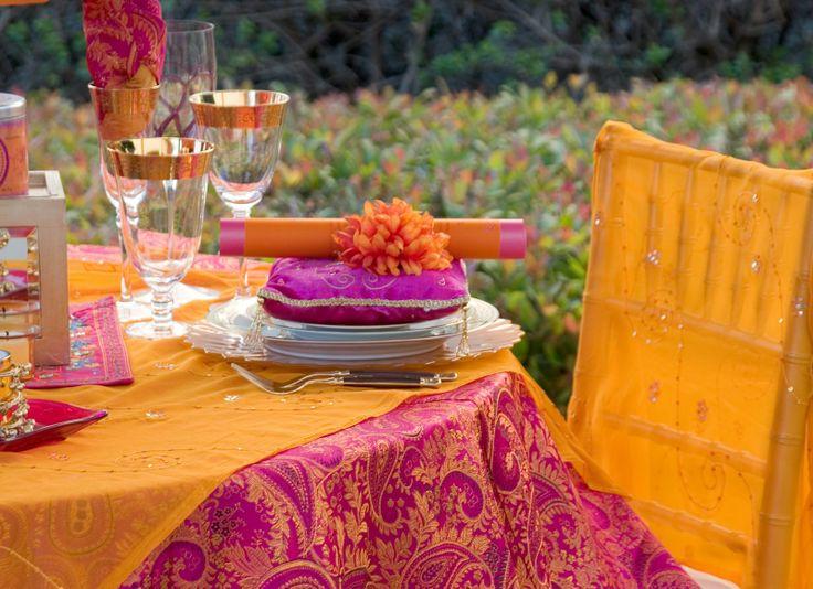 orange pink -table dress-up & 150 best Diwali Decor u0026 Entertaining Ideas images on Pinterest ...
