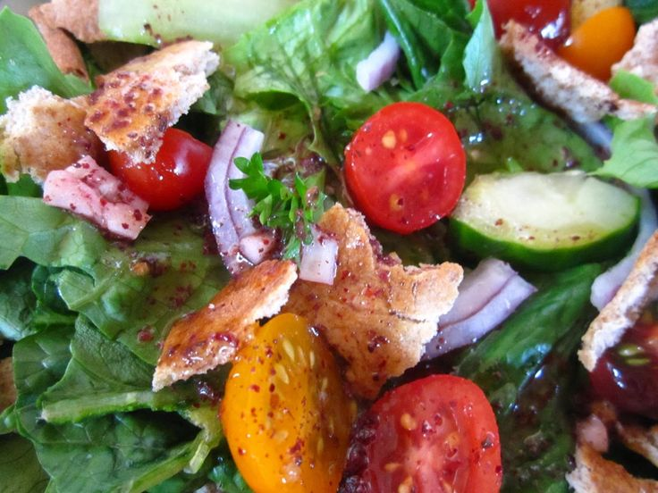 "awesome ""Arab Fattoush Salad Recipe"" ""Vegetarian Recipes"""