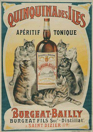 Quinquina des Iles vintage advertising poster (1890)