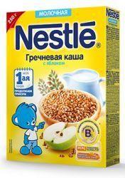 Нестле каша молочная гречневая с яблоком 250г  — 143р. --------- Детские молочные каши NESTLÉ  Для здорового роста и полноценного развития твоему подрастающему малышу нужны микронутриенты – витамины и микроэлементы, которые его организм может получить только с пищей. Поэтому врачи-педиатры рекомендуют начинать прикорм с детских каш, богатых витаминами, минералами и пищевыми волокнами.     Рецептура детских кашNESTLE специально разрабатывалась с учетом главных потребностей растущего…