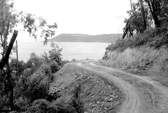 The Great Ocean Road in Victoria in the 1930s.