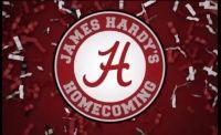 Vídeos James Hardy's Homecoming Full Part -  Grande James um grande especialmente em corrimãos nesta parte completo de uma vídeo lançado pela Thrasher Magazine, o vídeo foi totalmente filmado em torno do Alabama um dos 50 estados americanos