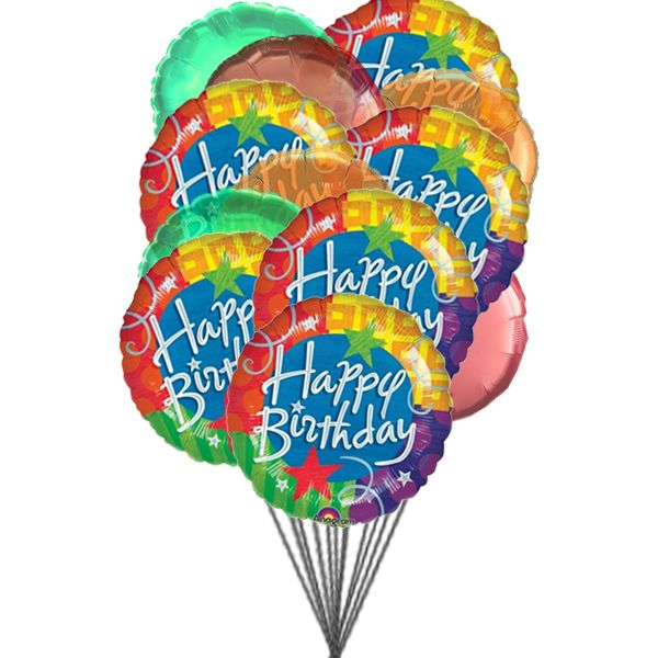 Cheerful Happy Birthday Balloons 6 Mylar Latex Send Beautiful With Colours To Say