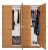 Alta 4 Door Wardrobe Closet Basic Package - Free Standing