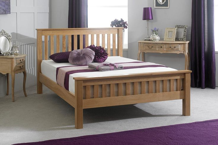 Roma Solid Oak Bed Frame 5ft - King Size | The Oak Bed Store
