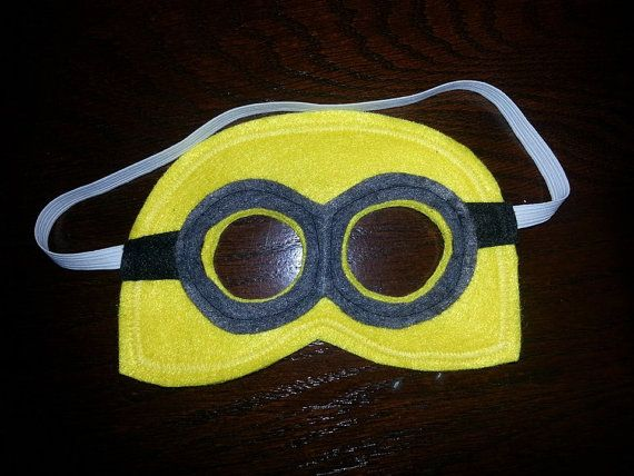 Despicable Me Minion mask by CraftedCreationsKS on Etsy, $6.00 w/ overalls