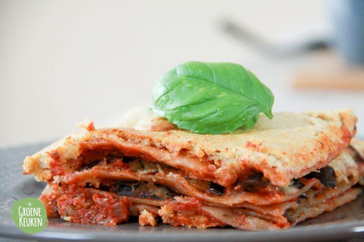 Lasagne |De Groene Keuken #vegan #veganmofo #vgnmf15