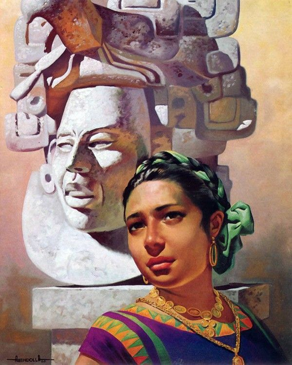 Vintage Mexican Calendar Art : Best images about mexican women in art on pinterest