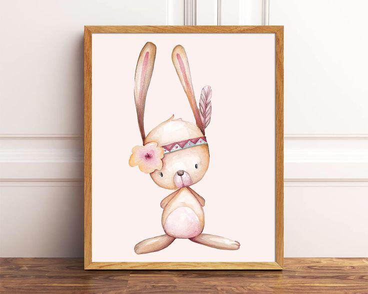 A personal favourite from my Etsy shop https://www.etsy.com/uk/listing/536960264/woodland-nursery-bunny-print-nursery