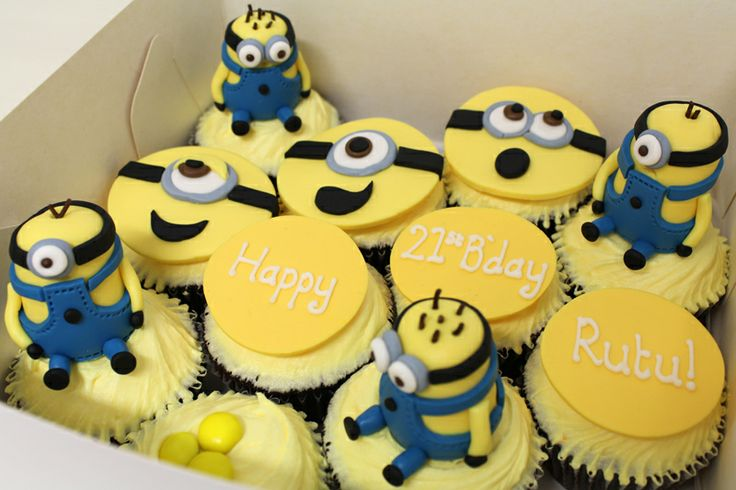 Minion (Despicable Me!) Cupcakes by Sweet Bakery & Cakery, Wellington, NZ (www.sweetbakery.co.nz)