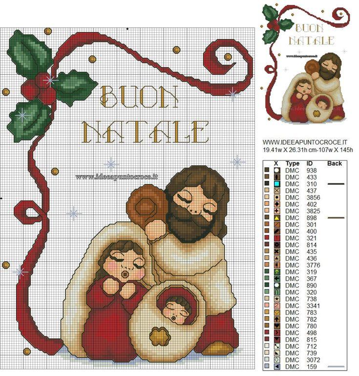 NATIVITA' THUN SCHEMA PUNTO CROCE Natale