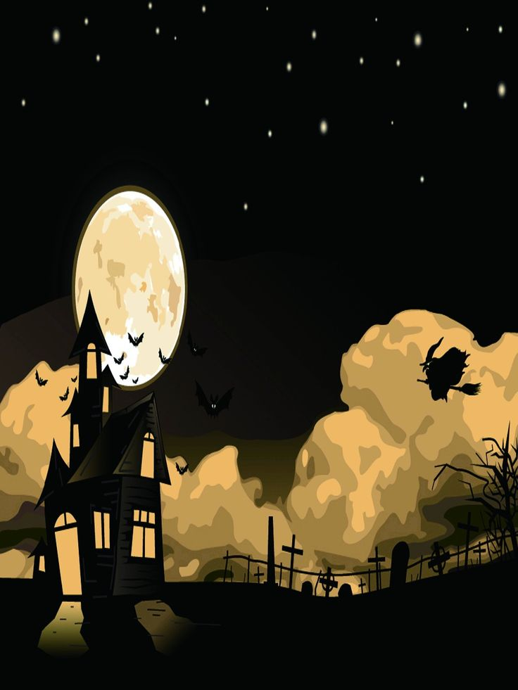 photography backdrop moon witch halloween background for children portrait clothbackdrops for photography - Halloween Backdrop