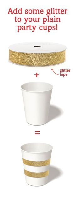 Add some glitter to your party cups for a quick and easy sparkly transformation! @Lori Bearden Bearden Robinson CHARLIE
