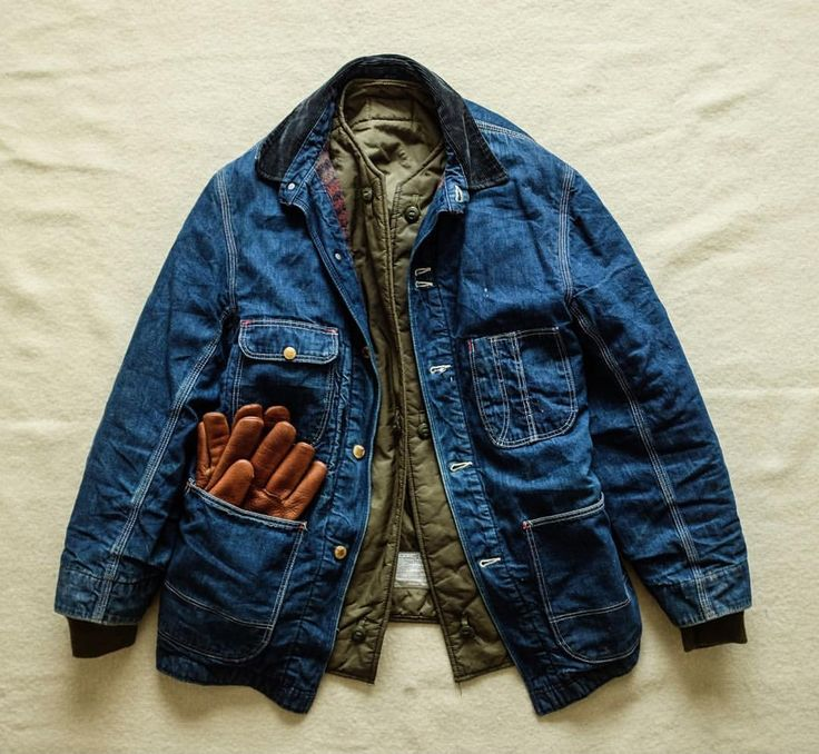 """1,010 Likes, 8 Comments - Rare Military And Workwear (@saunders_militaria) on Instagram: """"#OnHold some stuff being listed today. 1950's Denim Chore Jacket (with wool blanket lining) and a…"""""""