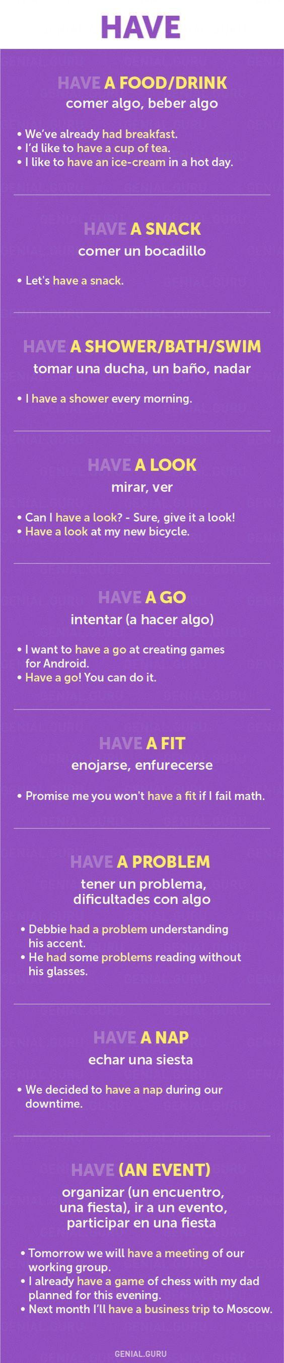 60+frases con los verbos más necesarios enInglés #english #collocations #have
