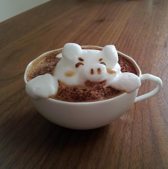 Little Miss Piggy  The Incredible 3D Latte Art By Kazuki Yamamoto Will Amaze You All • Page 5 of 6 • BoredBug