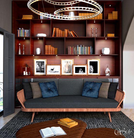 Domowa biblioteka, pokój doi czytania, gabinet, biuro, regał. Zobacz więcej na: https://www.homify.pl/katalogi-inspiracji/14691/domowe-biblioteczki-i-pokoje-do-hobby