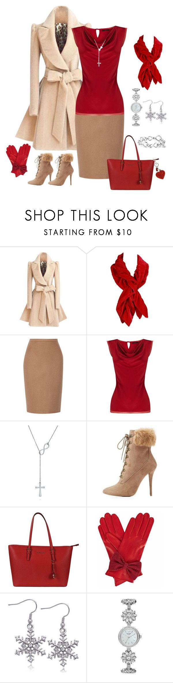 """Winter Capsule, Neutral Skirt"" by piakarlson on Polyvore featuring INC International Concepts, MaxMara, Coast, BERRICLE, Wild Diva, Michael Kors, Gizelle Renee, Kate Spade and David Yurman"