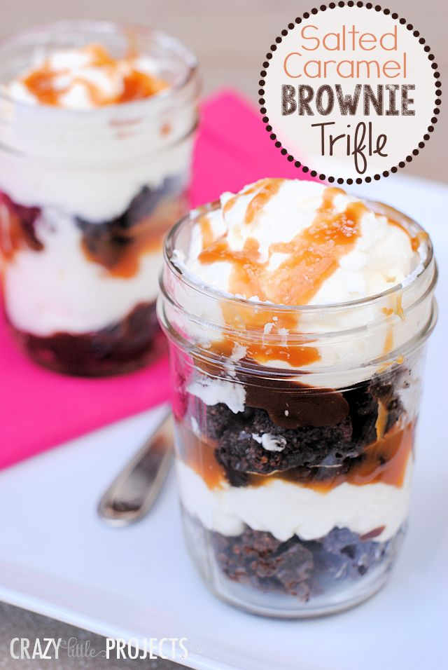 Salted Caramel Brownie Trifle - hmm, and I just happen to have some leftover brownies...