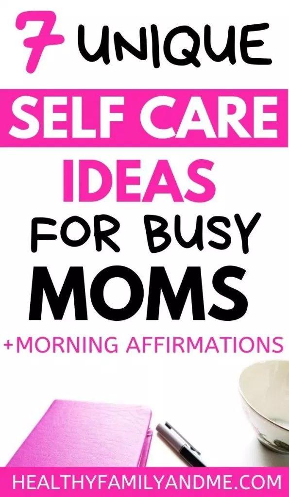 Self Care Ideen für vielbeschäftigte Mütter   – Self-care, moms life easier