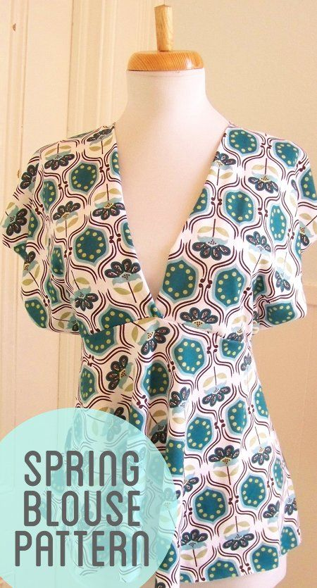 Empire Waist Blouse pattern. This pattern could easily be altered for a maxi dress. I would also make it a bit more modest - perhaps a lace insert.#Repin By:Pinterest++ for iPad#
