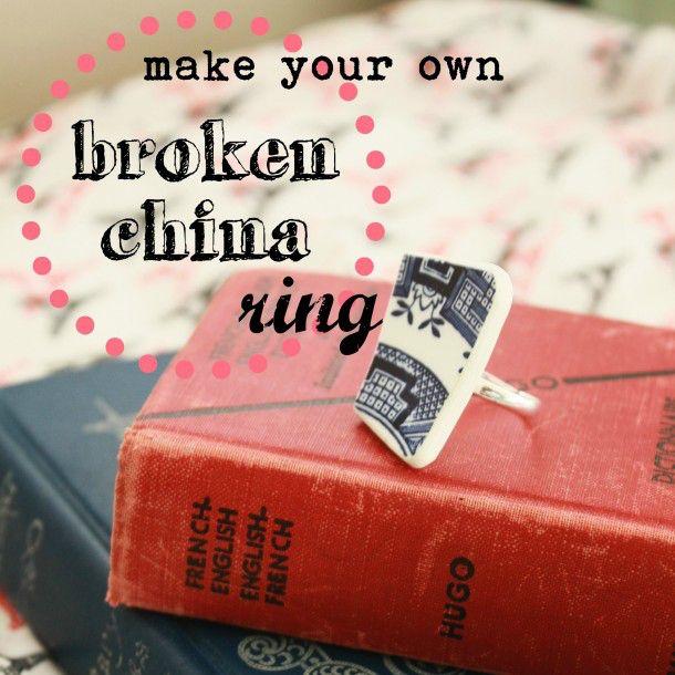 DIY Rings: Create Your Own Broken China Ring