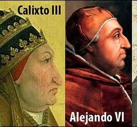 Dámaso I, Calixto III, Alejando VI y Benedicto XII, los cuatro papas españoles.