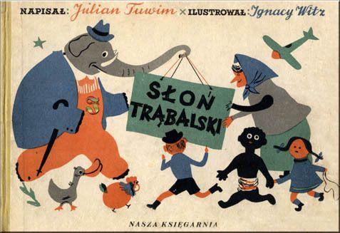 Słoń Trąbalski- ilustracje Ignacy Witz