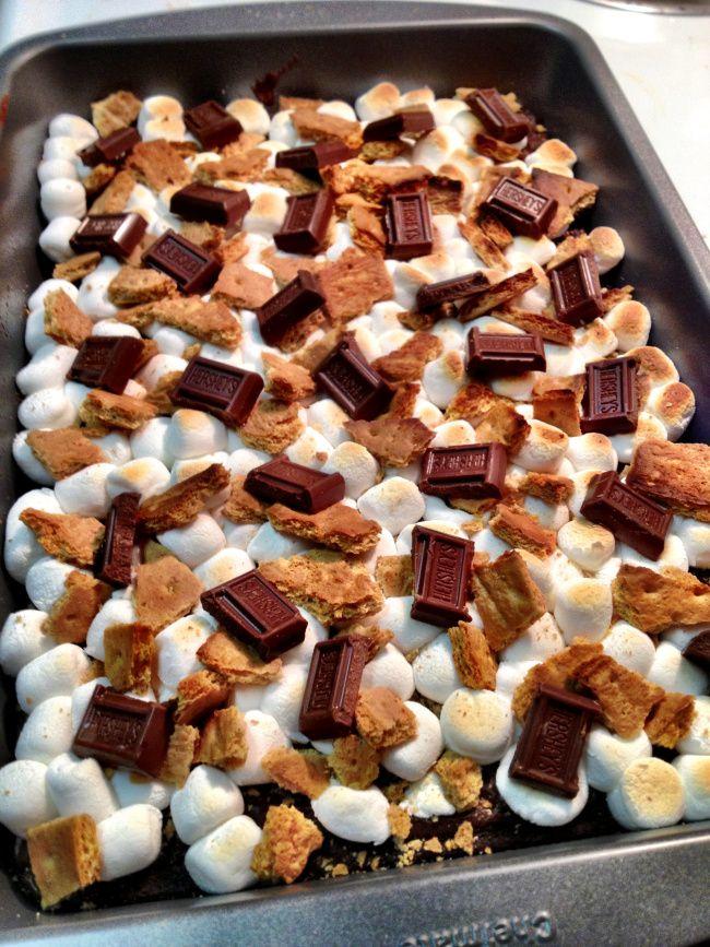 Smore Brownies  http://www.mervedinger.com