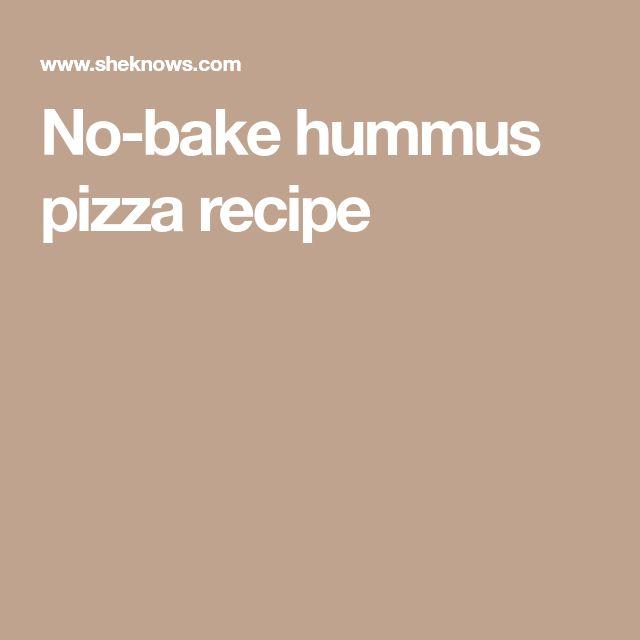 No-bake hummus pizza recipe