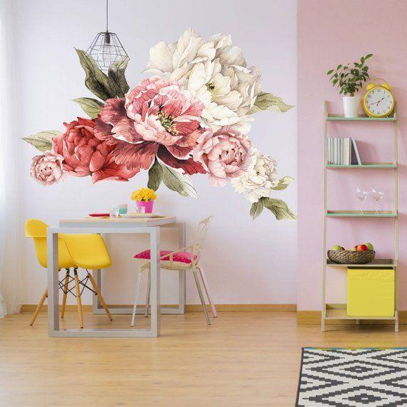 vintage floral wall decals urban walls - 570×570