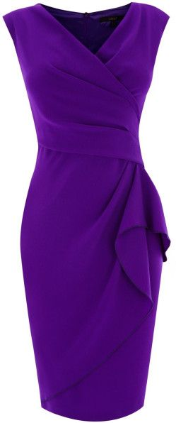 Coast | Purple Emmy Crepe Dress