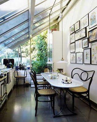 Great conservatory kitchen.