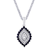 WOS 18KY Gold Pendant with 0.2Ct Di