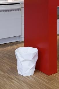 Bin bin - white designer waste paper basket.  Danish designed.
