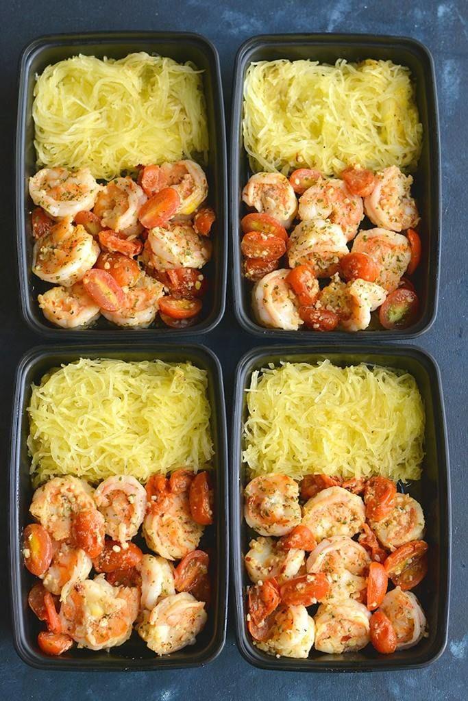 Healthy Shrimp Scampi & Spaghetti Squash