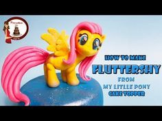 """How to make Fluttershy from """"My Little Pony"""" out of fondant cake topper - YouTube"""