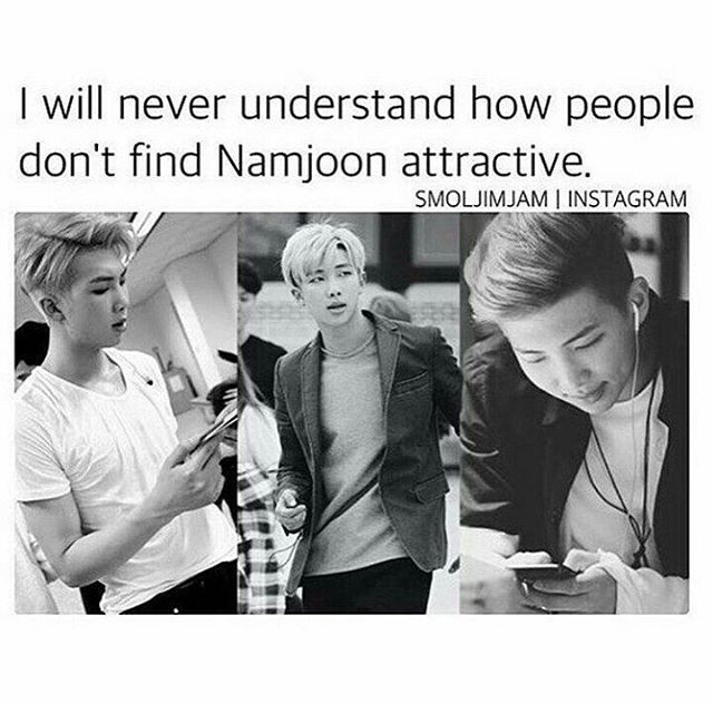 """2,351 Likes, 43 Comments - bangtan°™ (@stanjhobi) on Instagram: """"there is alot of ways that namjoon is attractive❤️""""<<<I agree. And it's not just his looks either"""