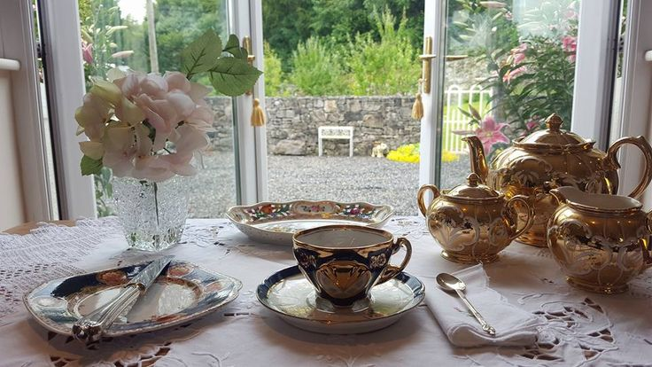 Vintage China hire sample set up for a lovely Afternoon tea