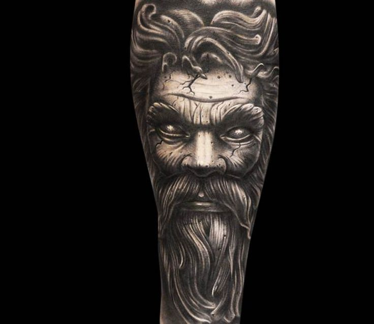 Statue tattoo by Mike Devries