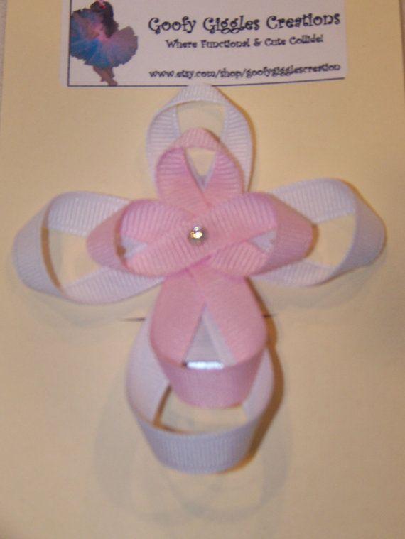 Ribbon Sculpture Cross Hair Clip