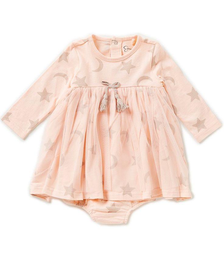 Jessica Simpson Baby Girls Newborn-9 Months Printed Jersey Dress