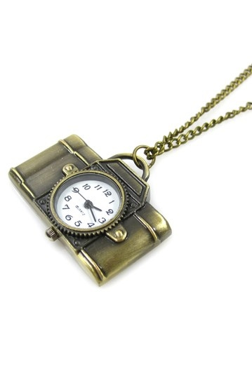 Light Camera Action Pocket Watch Necklace