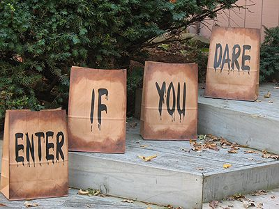 Big paper bag luminaries tutorial. I would make these with lunch bags instead of grocery bags.