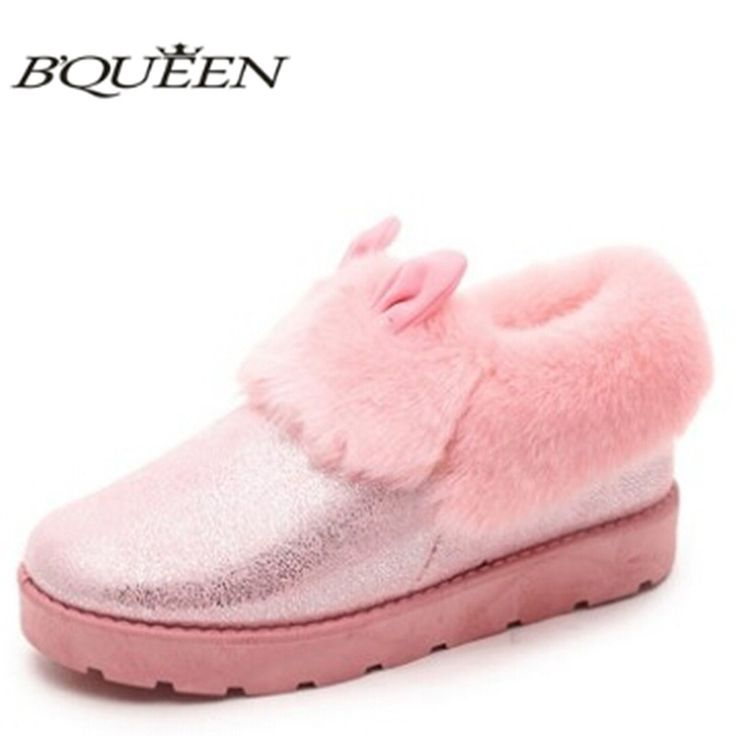 $14.90 (Buy here: https://alitems.com/g/1e8d114494ebda23ff8b16525dc3e8/?i=5&ulp=https%3A%2F%2Fwww.aliexpress.com%2Fitem%2Fwaterproof-women-s-winter-snow-boots-newest-style-lovely-rabbite-ear-boots-pink-color-girls-ankle%2F32581043122.html ) waterproof women's winter snow boots newest style lovely rabbite ear boots pink color girls ankle boots flat nubuck shoes female for just $14.90