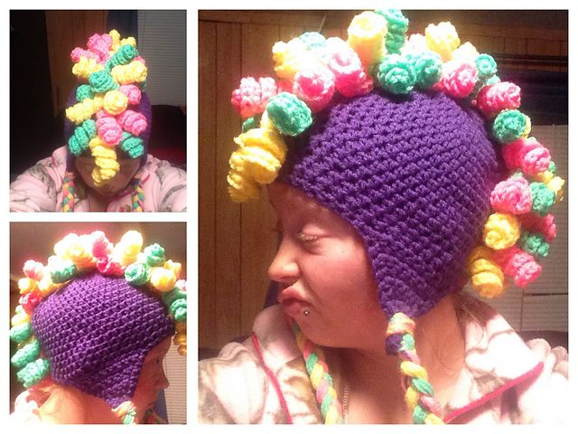 Ravelry: Curly Mohawk Hat pattern by Sweet Southern Stitches