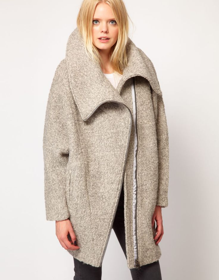 wool zip coat