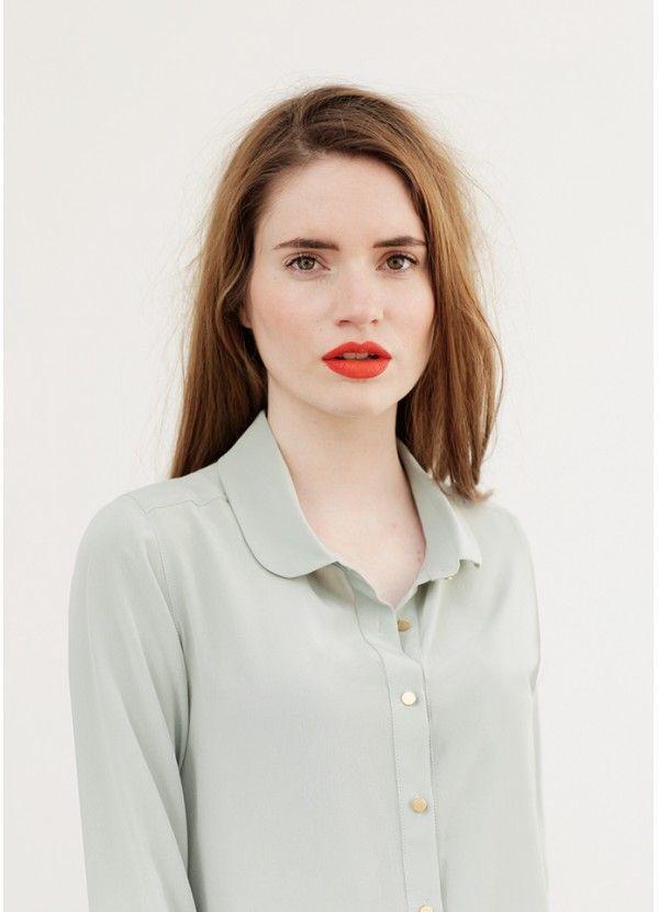 beautiful shirt + lips