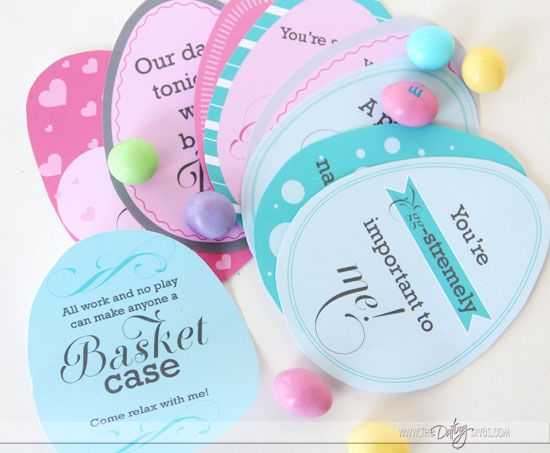 Easter Egg Love Notes- they fit perfectly inside plastic Easter eggs!