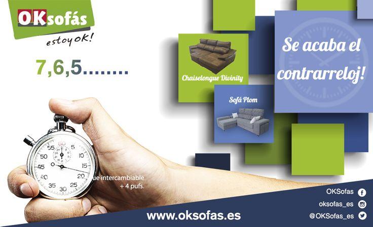 Se acaba el #contrarreloj! aprovéchalo. Empieza la cuenta atrás. #contrarreloj este #verano! #contrarreloj #estoyok #relax #descanso# #sofás @OKSofas_es  www.oksofas.es